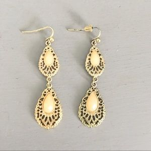 Boutique statement gold earrings
